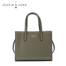 JESSIE & JANE Designer Marke Praktische Mini Frauen Messenger Bags Handtaschen Aus Leder Schultertasche Top-Griff Taschen 1223