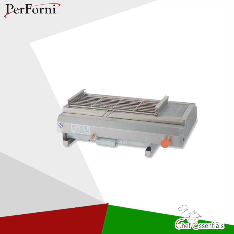 PKJG-GB580 Gas Smokeless Barbecue Oven Commercial products grill BBQ kitchen pkjg gh776 gas convection pasta cooker 6 pan for commercial kitchen