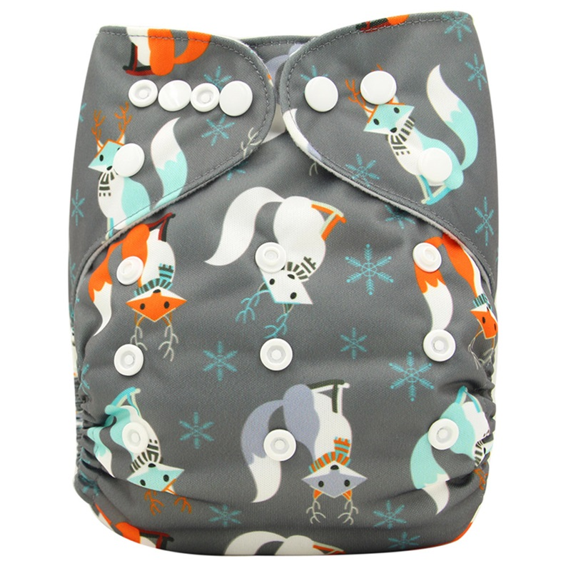 Ohbabyka Brand New Reusable Diapers Baby Cloth Diaper Microfiber Velour Fitted Washable Pants Couche Lavable Baby Nappy Washable