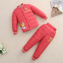 new autumn and winter small children down jacket suit for boys and girls warm under down