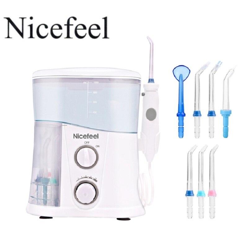 Oral Irrigator Dental Water Flosser Wth 1000ml Water Tank 7 Tips with Adjustable Pressure