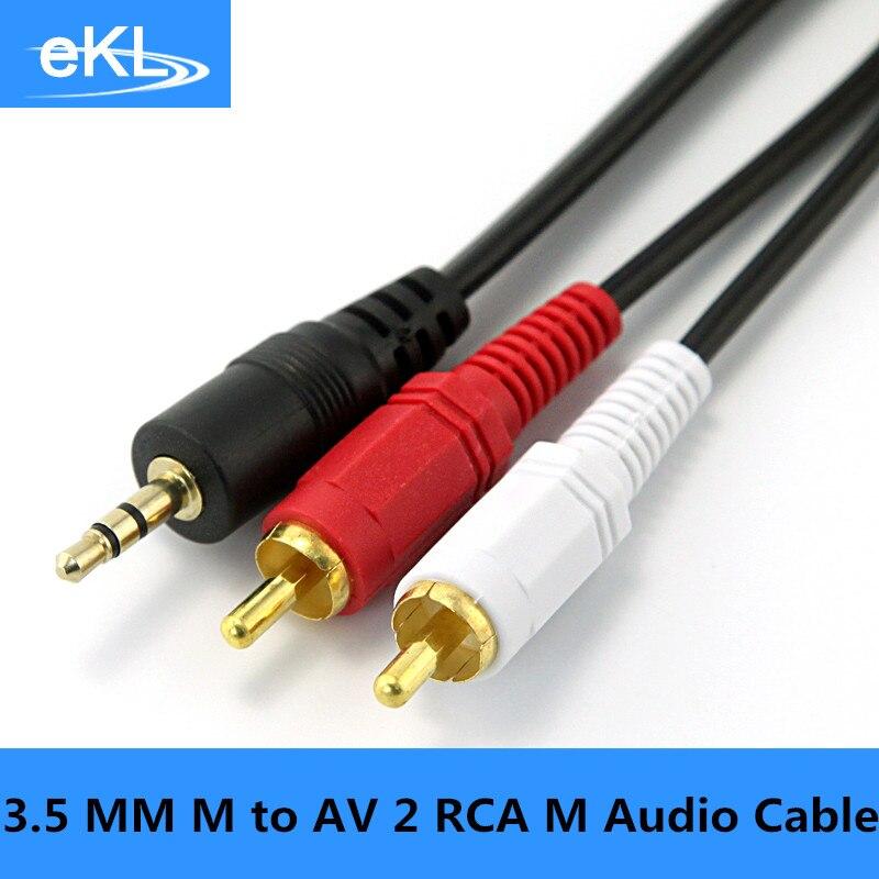 Ekl 3 5mm Male Jack To Av 2 Rca Male Stereo Music Audio