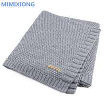 Baby Blanket Knitted Newborn Swaddle Wrap Blankets Super Soft Toddler Infant Bedding Quilt For Bed Sofa Basket Stroller Blankets(China)