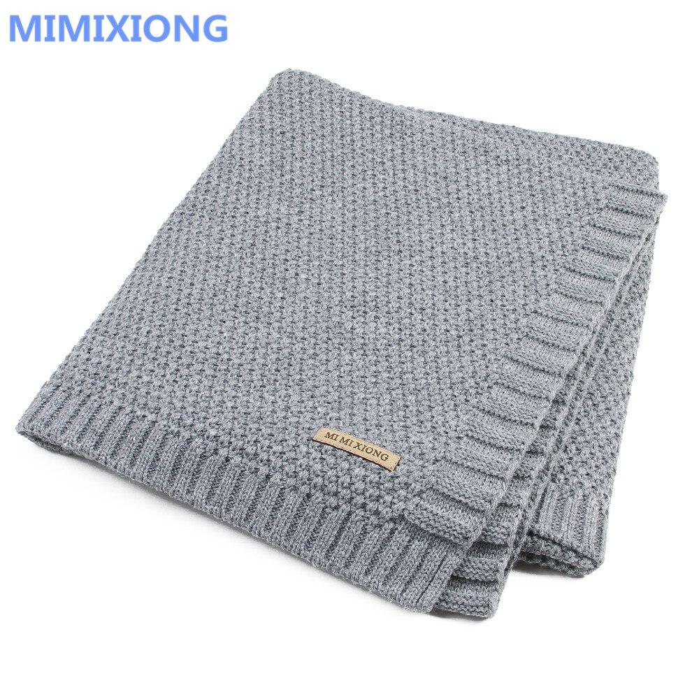 Manta de bebé de punto para recién nacido Swaddle Wrap mantas Super suave para niños ropa de cama para cama sofá cesta mantas para cochecito