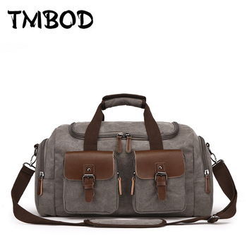 New 2019 Men Large Capacity Canvas High Quality Mountaineer Travel Bag Bucket Tote Casual Trip Shoulder Bags For Male an1156