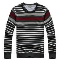 AFS JEEP Autumn Thick Striped Knitted Sweater Brand Clothing Men S Cotton O Neck Sweater Men