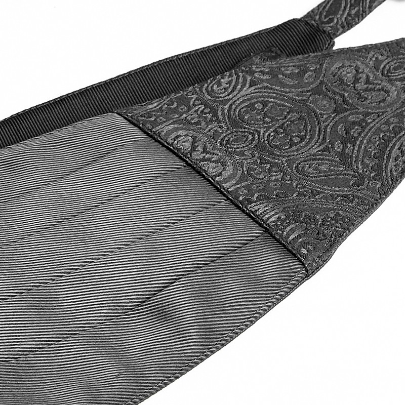 S-174 Gothic Man Black Adjustable Denim fancy waist belt fashion accessories Stock