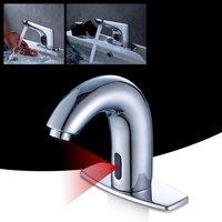 Polished Automatic Sensor Sink Tap Copper Faucet Basin Mixer Taps For Bathroom Washroom