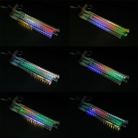 decoracao do feriado solar luz da corda multi cor jardim luz