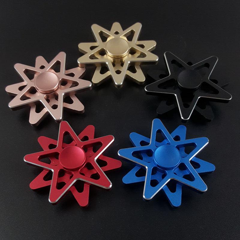 New double five pointed star fingertips gyro finger spinner decompression creative adult toys Spinner Hand Figet
