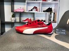 b745cc68dc3cd Original PUMA MERCEDES AMG X zapatillas de cuero transpirables para Hombre  Zapatos rojo/Blanco/Negro bádminton zapatos Size36-45