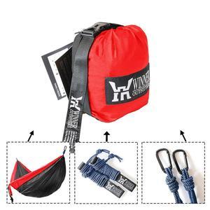 Image 2 - Single & Double Camping Hammock with Hammock Tree Straps Portable Parachute Nylon Hammock for Backpacking Travel