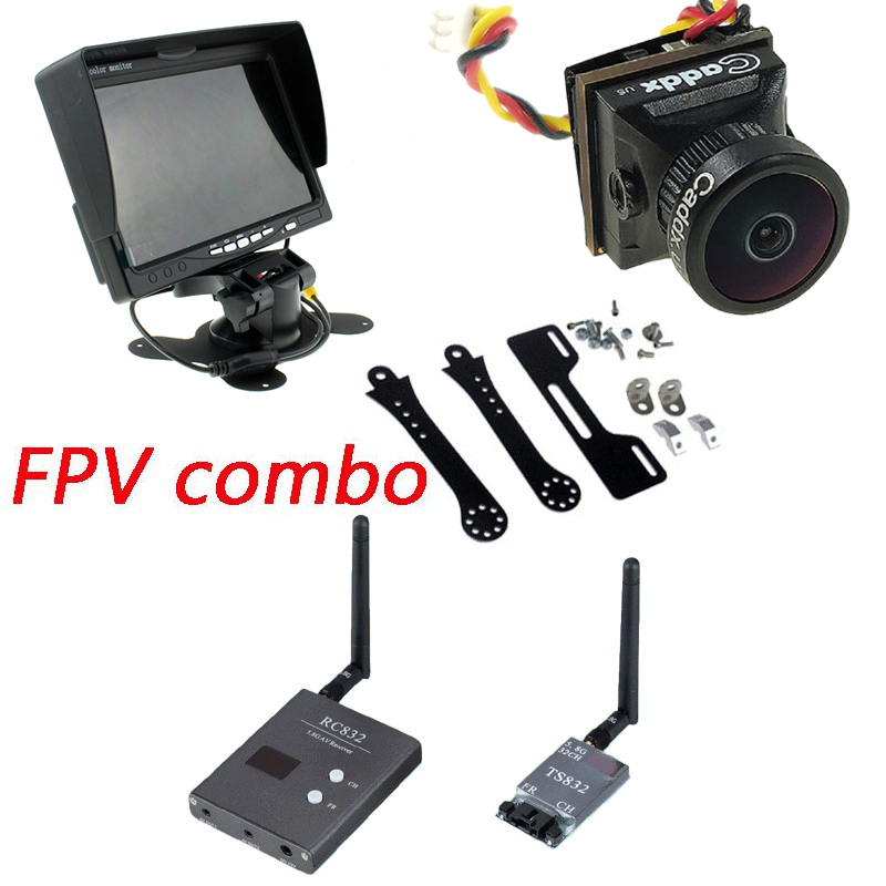 FPV Combo System 5.8ghz 48CH TS832 Transmitter RC832 Receiver on  Monitor Caddx Turbo EOS2 1200TVL  Camera  Phantom QAV250 CX20FPV Combo System 5.8ghz 48CH TS832 Transmitter RC832 Receiver on  Monitor Caddx Turbo EOS2 1200TVL  Camera  Phantom QAV250 CX20