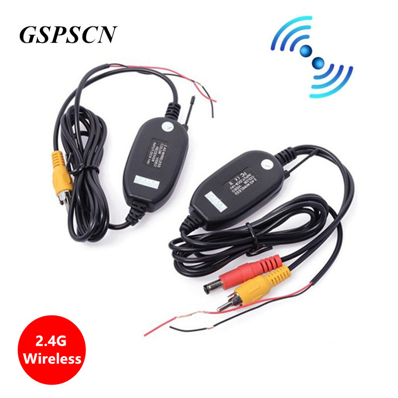 GSPSCN 2.4G bezprzewodowy Parking odbiornik wideo RCA zestaw z nadajnikiem na monitory samochodowe kamera cofania Backup kamera cofania