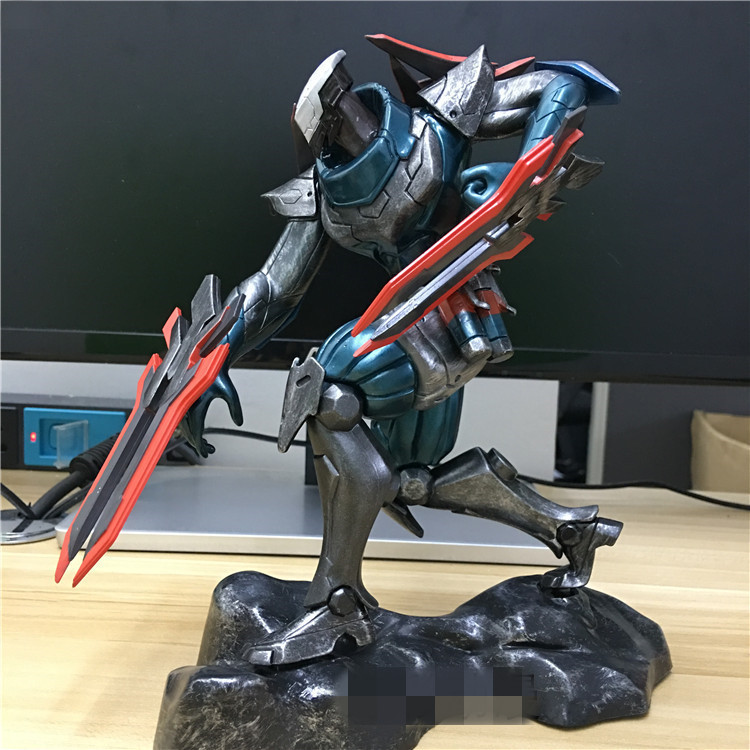 ФОТО 1pcs The Master of Shadows Zed game character action pvc figure toy model tall 20cm in box hot sell.
