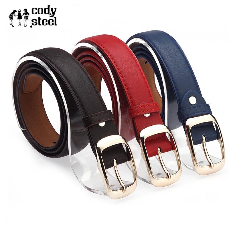 Cody Steel Wholesale PU Leather Female Belt Pin Buckle Black Leopard Belt Strap Waist Women Jeans Pants Belts For Woman