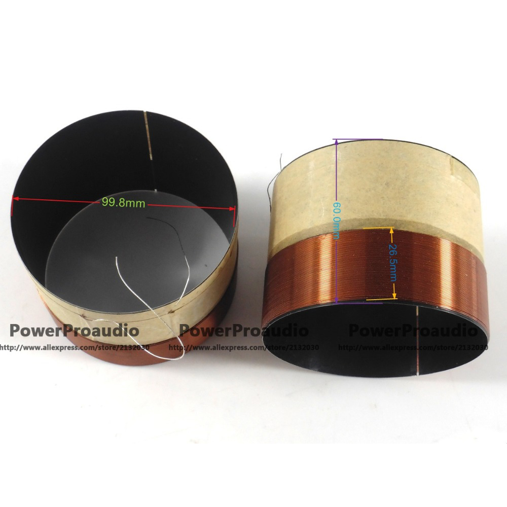 4pcs //Lot 99.8mm Voice coil Copper wire  8 Ohm For Loudspeaker Repair Tweeter