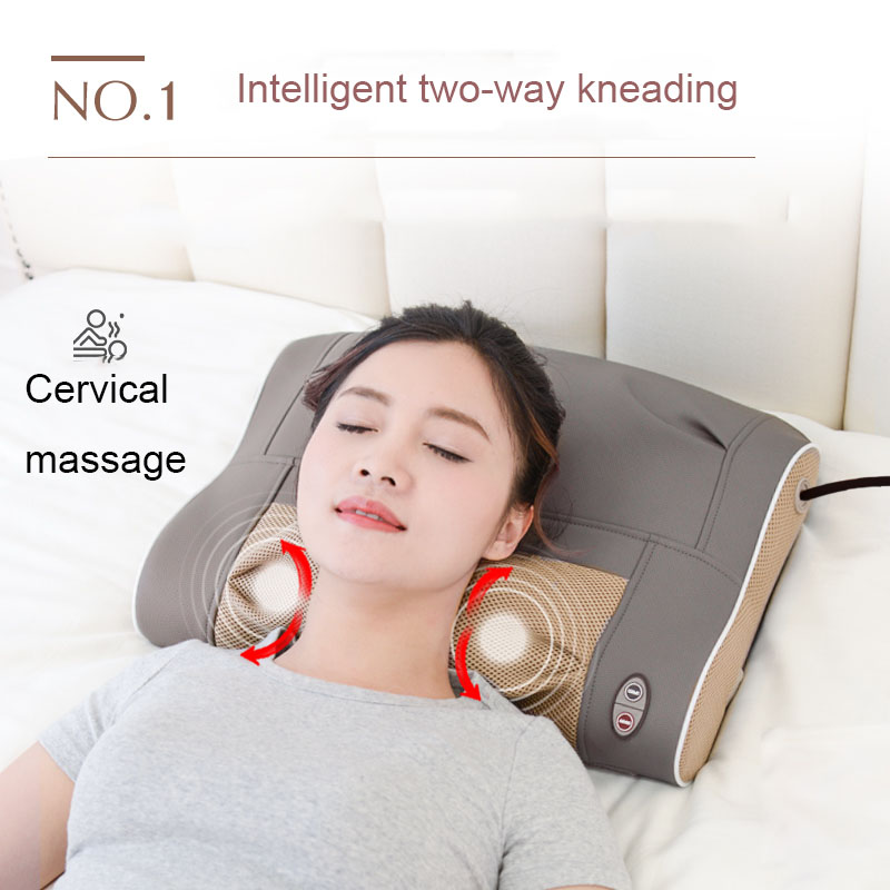 Cervical Massager Shoulder And Neck Waist Multifunction Electric Kneading Hot Pack Home Physiotherapy Pillow Airbag Head Support