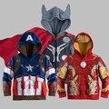 Caliente súper héroe de los muchachos de los Hoodies de los niños sudaderas historieta Spider man Boy capa de la chaqueta The Avengers Alliance