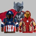 Hot Super herói meninos crianças Hoodies crianças crianças moletons dos desenhos animados do homem aranha jaqueta menino casaco de a aliança vingadores