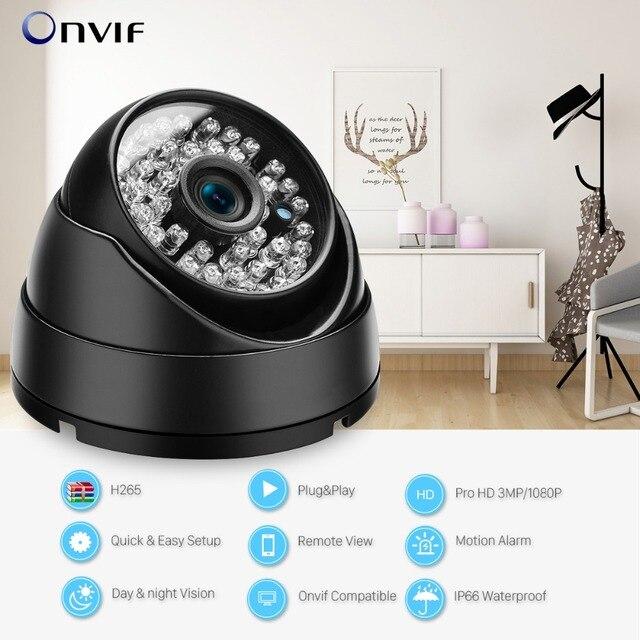 Onvif 3MP 2MP IP Camera 1080P Security Outdoor Surveillance Night vision 2