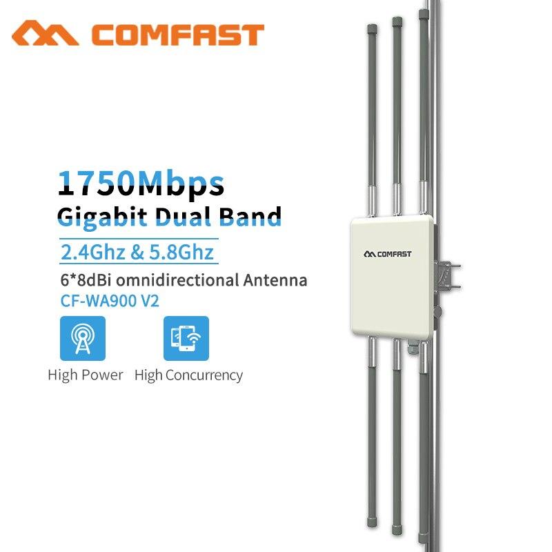 WA900V2 répéteur Wifi extérieur haute puissance 1750 Mbps double bande 2.4 + 5 Ghz sans fil étanche routeur Wifi/AP Base d'antenne répéteur