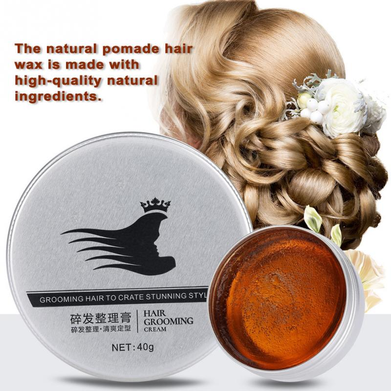 30ml Natural Hair Wax Water Based Fluffy Hair Styling Pomade Hair Modeling Wax For Men Women Hair Gel Styling Pomades Waxes Aliexpress