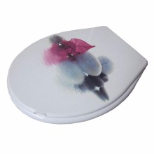 цена на toilet lid cover standard closing 2016 high quality colorful  toilet seat cover set hot selling fashion bathroom pp  toilet seat