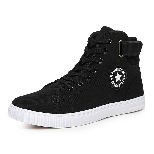 74a36270e0a3 Shoes Men Luxury Brand Mens High Top Casual Men Shoes Lace-up Fashion Ankle  Casual