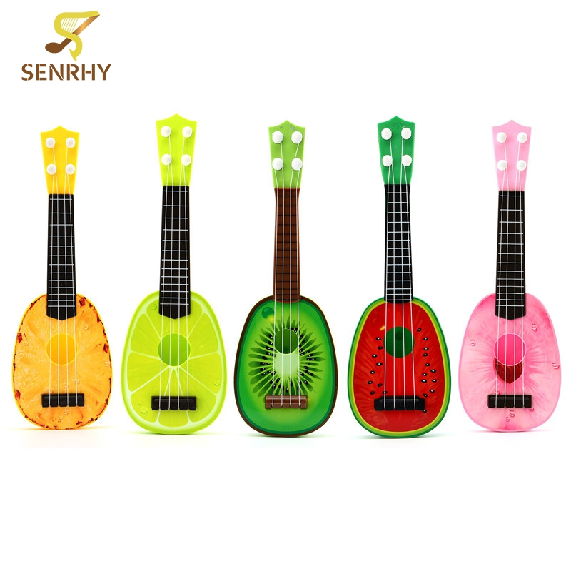 36cm fruits cute style 4 string plastic ukulele guitar musical instrument kids children. Black Bedroom Furniture Sets. Home Design Ideas