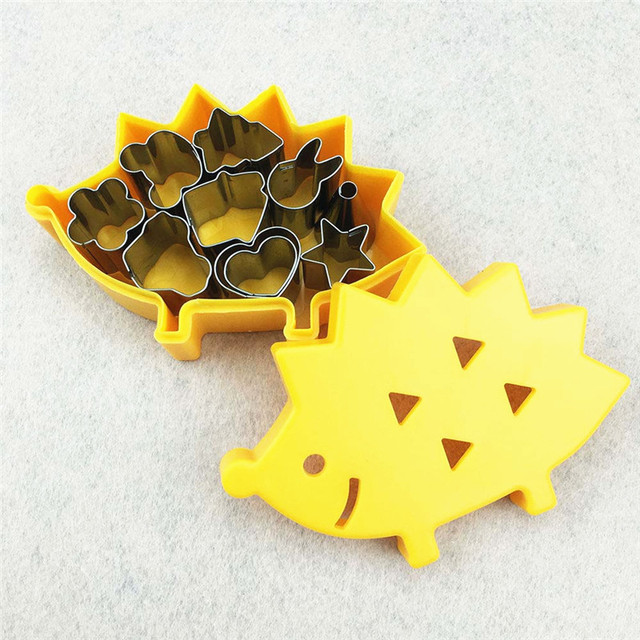 10pcs/set Vegetable Fruit Mini Cutters With Hedgehog Shape Box Cake Cookies Cutter Mold Kitchen Gadget Home Cutting Shape Tools 2