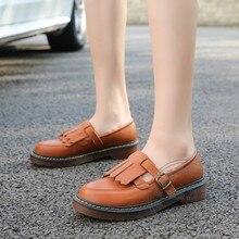 สไตล์ผู้หญิงสีที่บริสุทธิ์รองเท้าแบนจีนรองเท้าประดับPuทั้งหมดM Atchสตรีรองเท้าต่ำยอดนิยมเสน่ห์สไตล์อังกฤษนุ่มหนัง