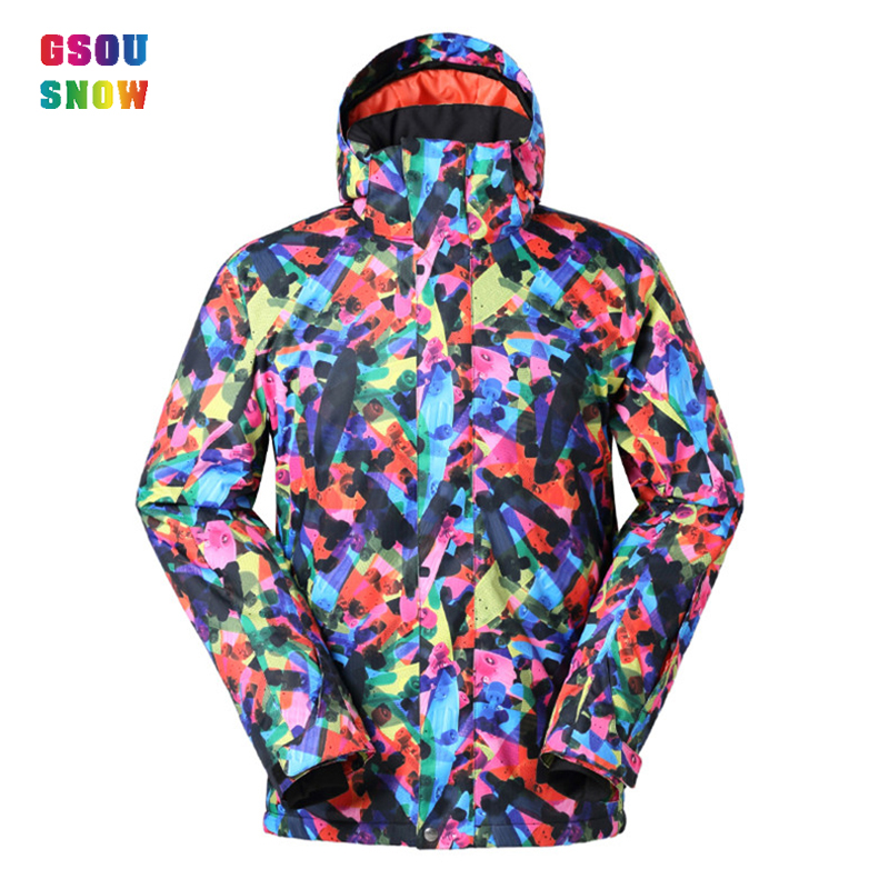 2016 GSOU SNOW children kids ski jackets boy girls long thick windproof colorful camo white light hooded skiing jackets unisex 2016 new brand children snow runner self balance scooter snow bicycle for kids ski kits