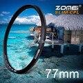 ZOMEI 52 мм 55 мм 58 мм 62 мм 67 мм 72 мм 77 мм Ультра Тонкого Оптического Стекла PRO цифровой CPL Круговой Поляризатор Объектив Камеры Фильтры