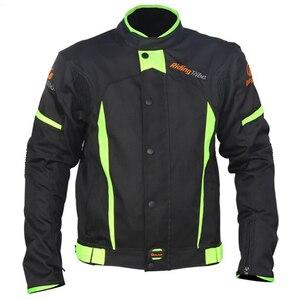 Image 2 - חדש מגיע! רכיבה שבט שחור לשקף מירוץ חורף מעילים ומכנסיים, אופנוע עמיד למים מעילי חליפות מכנסיים