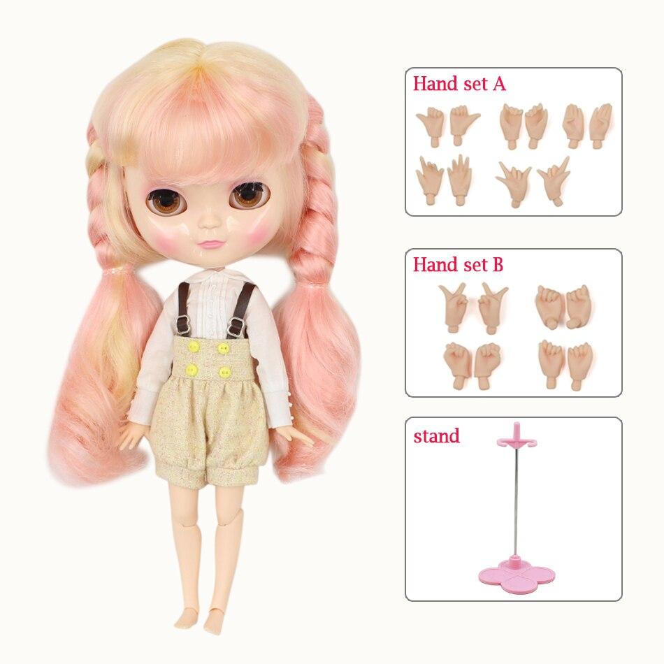 ฟอร์จูนวันICYตุ๊กตา1/6 azoneร่างกายหน้าอกขนาดเล็กสีบลอนด์ผสมสีชมพูผมเสื้อผ้ารองเท้ายืนมือของเล่นของขวัญBL313/1010-ใน ตุ๊กตา จาก ของเล่นและงานอดิเรก บน   1