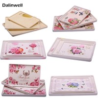 Hotel European Rectangle Melamine Cup Tea Tray Christmas Fruits Cake Plate Dish Set Catering Kitchen Dishes