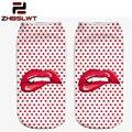ZHBSLWT 3D Digital Printed Animal Socks Unisex Fashion Cute Short Sock Mix Color Women Low Cut Dress Sock