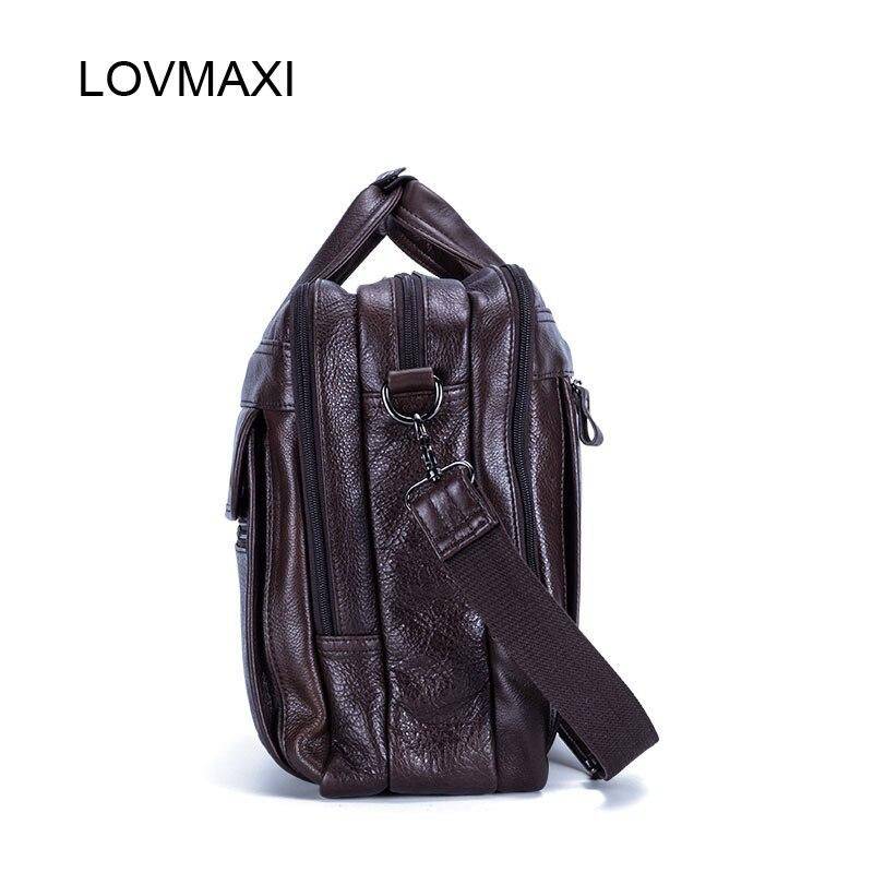 Messenger Reisetasche Aktentaschen Männliche Lovmaxi Leder Bag Handtaschen Herren Kausalen Deep Große Coffee Laptop Taschen Für 100 Business 2018 Echtem wqqa0OR4