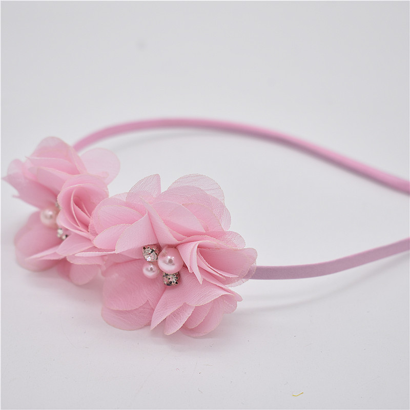 1 PC Rhinestone guy of the diamond pearl headwear newborn Hairbands flowers  headband children hair accessories of sewing-in Hair Accessories from Mother  ... b3bc6cadbc65