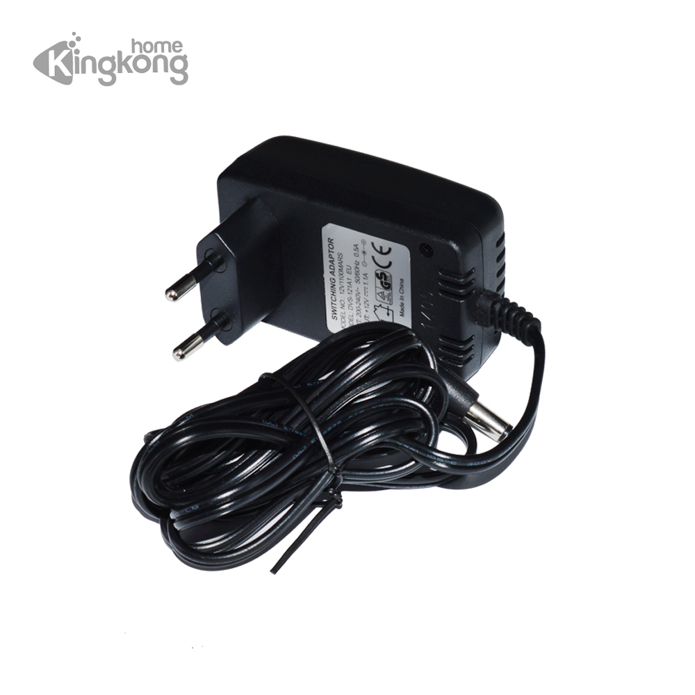 Kingkonghome AC 100-240V DC 12V 1.1A EU Plug AC/DC Power adapter charger Power Adapter for CCTV Camera (2.1mm * 5.5mm) ac power adapter dc 8 4v 1 5 1 7a original for sony camera camcorder ac l200b l25b lcc77