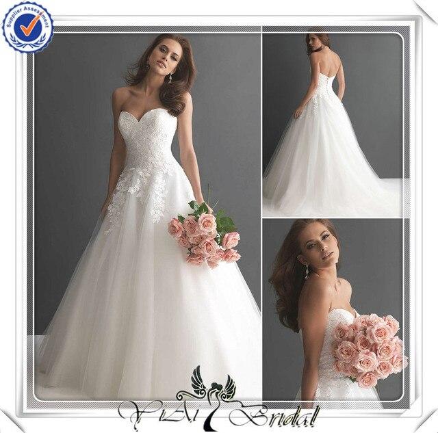 FQ0021 Sweetheart Neckline Puffy Skirt Japanese Bridal Wedding Dress ...
