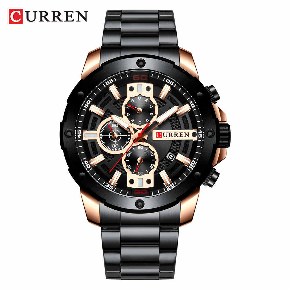 Relogio Masculino גברים של שעונים CURREN למעלה יוקרה מותג לצפות Mens קוורץ נירוסטה שעון אופנה הכרונוגרף שעון גבר