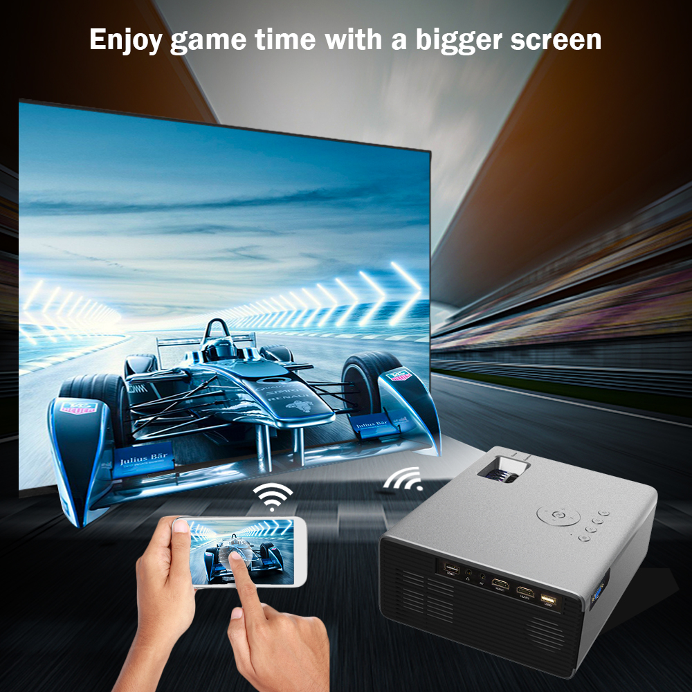 Image 4 - CRENOVA 2019 Newest LED Projector HD 1280*720P Android 6.0OS 3800 Lumens Home Cinema Movie Android Projector With WIFI Bluetooth-in LCD Projectors from Consumer Electronics