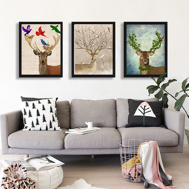 About deer World Second World War Vintage Canvas Poster Home Decor Quadros Decoration fo ...