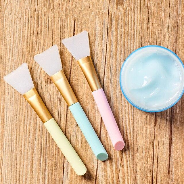 1 ud. pinceles de Maquillaje profesional máscara cepillo de máscara facial Gel de silicona DIY cosméticos herramientas de belleza Brochas Para Maquillaje