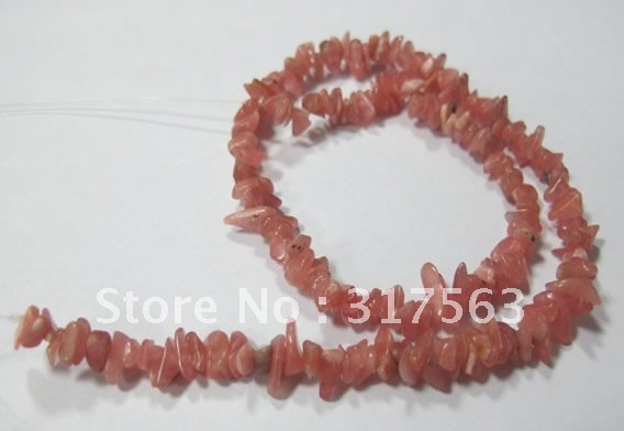 Natural Rhodochrosite 3*5 mm Chips Semi Gemstone Loose Beads,Free Shipping