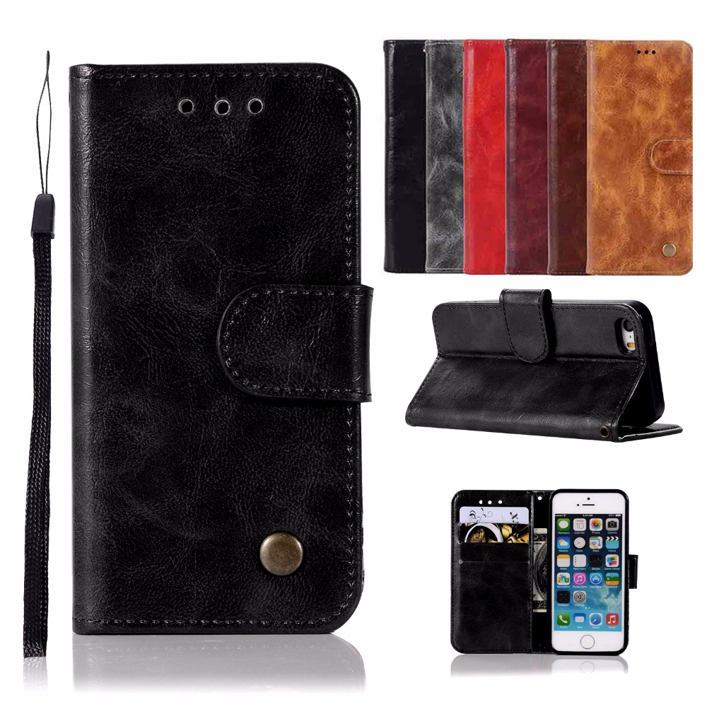 Flip Phone Leather Cover for Apple iPhone 5 A1428 A1429
