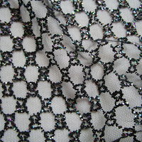 Classic french grid glue sequin glitter lace fabric fashion designer shining evening dresses mesh fabric prom dress net cloth