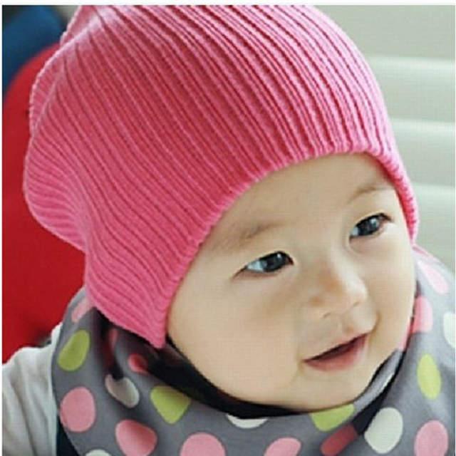 ce48c000b6d placeholder DreamShining Baby Hat Kids Newborn Knitted Cap Crochet Solid  Children Beanies Boys Girls Hats Headwear Toddler